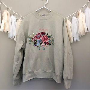Vintage Alaska Sweatshirt Tan Crewneck Pullover